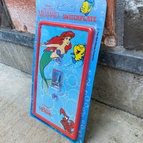 THE LITTLE MERMAID Vintage Switch Plate NWT